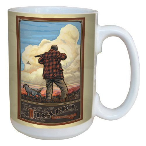 Tree-Free Greetings lm43157 Vintage Idaho Pheasant Hunting by Paul A. Lanquist Ceramic Mug with Full-Sized Handle, 15-Ounce, Multicolored (Best Pheasant Hunting In Idaho)