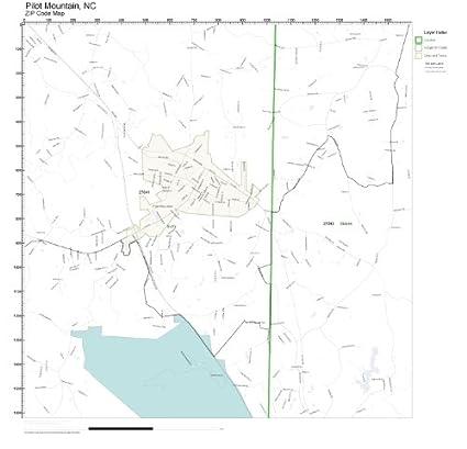 Mountain Home Ar Zip Code Map.Amazon Com Zip Code Wall Map Of Pilot Mountain Nc Zip Code Map Not