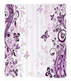 Chaoran 1 Fleece Blanket on Amazon Super Silky Soft All Season Super Plush Butterflies Decoration etIllustration of Fairy Butterflies withwirling Flowersilhouette Floral Decor Accessories ExtraViolet