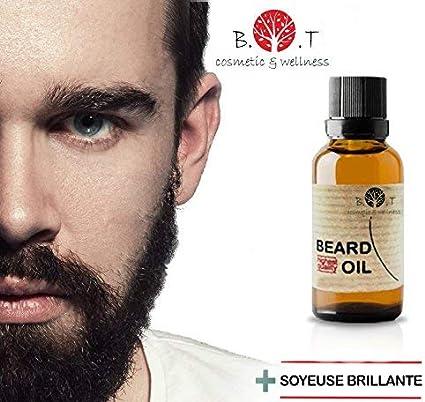 Aceite de Barba 3 en 1 Hidratante, Suero estimulante y Crecepelos 100 ml con Ricino y Jojoba