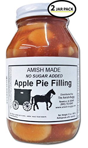 Amish Pie Filling - TWO 32 Oz Jars (Apple NSA)