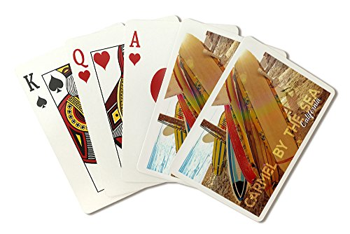 Lantern Carmel (Carmel-by-the-Sea, California - Surfboards on Beach (Playing Card Deck - 52 Card Poker Size with Jokers))