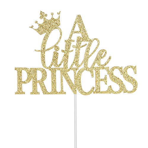 Baby Girl First Birthday Cake - A Little Princess Cake Topper, Baby