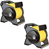 Stanley 3 Speed High Velocity Durable Utility Blower Fan w/ 2 Outlets (2 Pack)