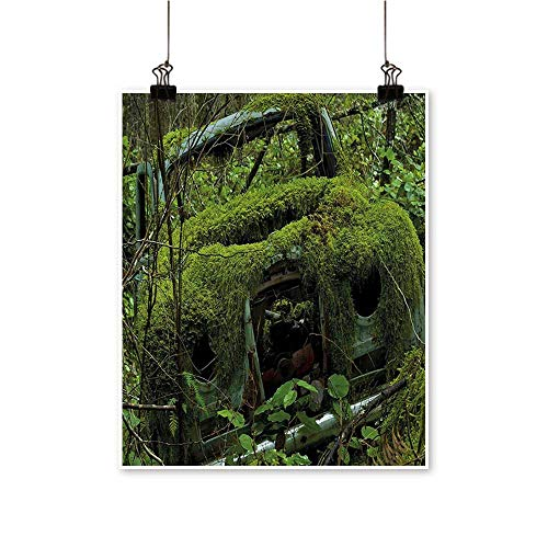- Canvas Prints Artwork Moss and Sec War Time Car Photo Olive Green and Artwork Wall,24