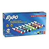 EXPO Low Odor Dry Erase Markers, Chisel Tip, Assorted Colors, 192 Count