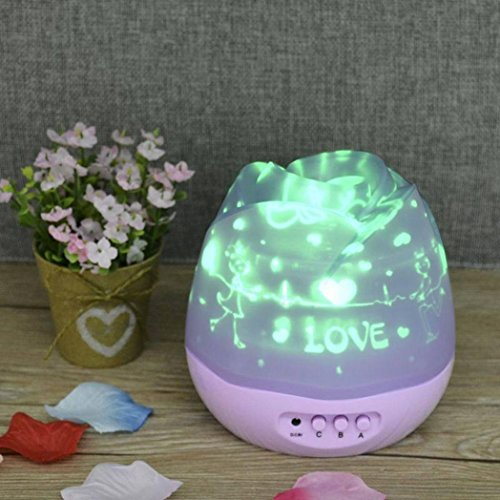 LED Light ,Lavany® Celestial Star Cosmos Night Lamp Lights Projection Projector Starry Sky Moon Star Lamp (Purple)