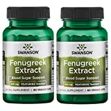 Swanson Fenugreek Extract - Featuring Testofen 300 mg 60 Veg Caps 2 Pack