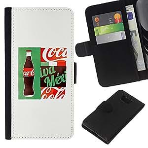 KLONGSHOP // Tirón de la caja Cartera de cuero con ranuras para tarjetas - Beba Marca Blanca populares - Samsung ALPHA G850 //