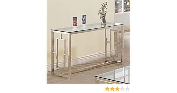 Amazon.com  Console Table for Entryway Glass Top Modern Hall Room Furniture  Metal Base Foyer Decor  Kitchen   Dining a77744ac2