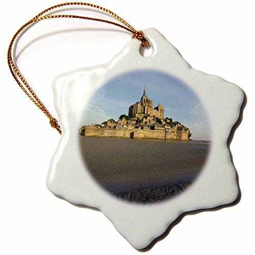 3dRose orn_81468_1 Mont St Michel, Manche, Normandy, France-Eu09 Dbn0741-David Barnes-Snowflake Ornament, 3-Inch, Porcelain by 3dRose