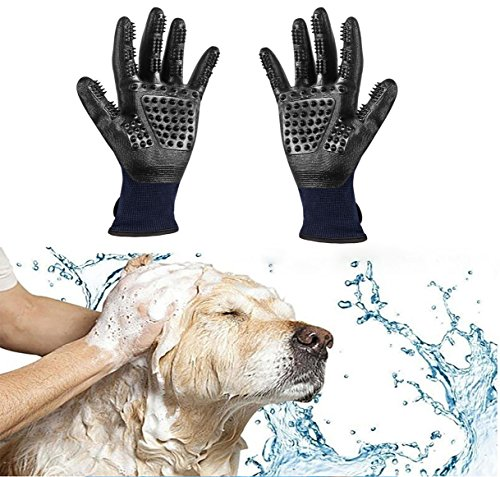 Trendcode Pet Deshedding Gloves - Efficient Pet Hair Remover, Grooming Mitt Brush Tool - Good Dogs Cats Horses Bathe Wash by Trendcode (Image #5)