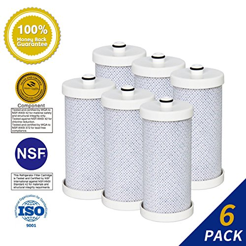 6 PACK Golden Icepure RWF2300A Water Filter Compatible with Frigidaire Puresource WF1CB, WFCB, RG-100, NGRG2000, RF-100, RG100, NGRG-2000, 9910 ,KENMORE 46 9906; 9906