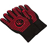 Culinary Couture Hot Gloves for Barbecue Grilling Cooking – Heat Resistant Oven Mitts Set – Provides 662F Protection – Bonus Ebook – XL