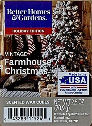 Better Homes and Gardens Vintage Farmhouse Christmas Wax Cubes - 4-Pack