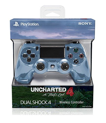 Sony DUALSHOCK 4 Limited Edition Uncharted 4 Wireless Controller for PlayStation 4 - Gray Blue by Sony
