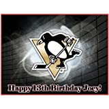 """Single Source Party Supply - Pittsburgh Penguins Edible Icing Image #1-8.25"""" Round"""