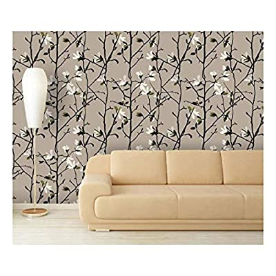 Charming Piece, Large Wall Mural Seamless Floral Pattern Vinyl Wallpaper Removable Decorating, With Expert Quality