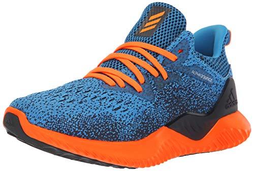 adidas Unisex Alphabounce Beyond Running Shoe, Bright Blue/hi-res Orange/Legend Ink, 4 M US Big Kid (Best Junior Running Shoes)