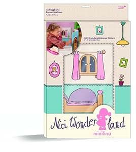Nici 33238 - Casa de muñecas de cartón con pegatinas