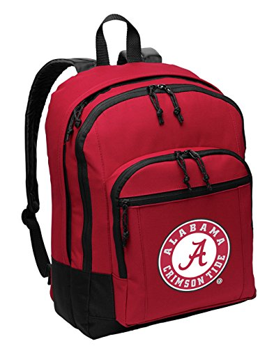 Broad Bay University of Alabama Backpack Official Classic Style Alabama Logo Backpack