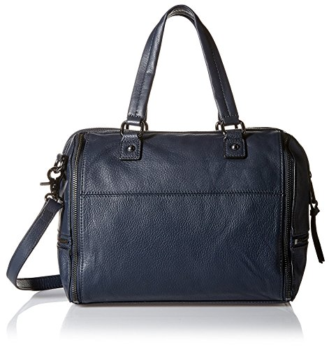 French Connection Women's Kacee Leather Satchel Navy