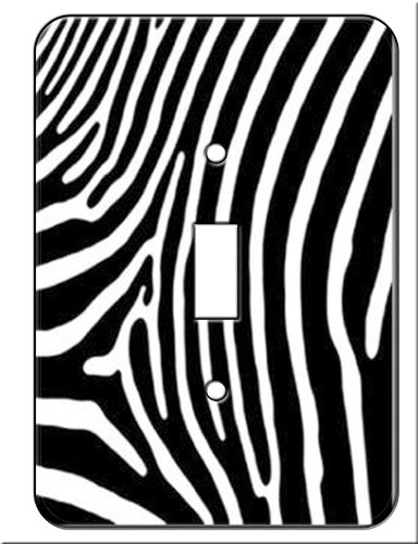 Zebra Switch plate Covers (Single Toggle) Wall ()