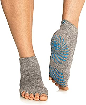 Amazon.com: Gaiam Grippy calcetines sin dedos para yoga ...