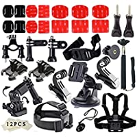 YFY 41-In-1 Basic Outdoor Sports Accessories Kit for GoPro Hero Cameras,SJ Cam, Xiaomi Yi,Sport Acion Camera