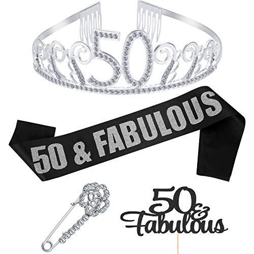 1 Set 50th Birthday Tiara and Sash 50th