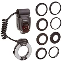 Neewer® Macro TTL Ring Flash Light with AF Assist Lamp for Nikon I-TTL Cameras/ such as D7000, D5000, D5100, D3200,D3100, D3000, D3 series, D800,D700, D2 series, D300 series, D200, D90, D80s D70 series, D60, D50, D40 series, F6, COOLPIX8800, COOLPIX8400, COOLPIX P5000, COOLPIX P5100,COOLPIX P6000 and all other Nikon DSLR Cameras