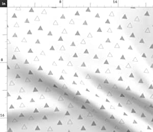 Fabric triangles cotton oeko tex grey and white 30 mm