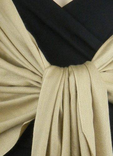 Pashmina / Silk Shawl Gold