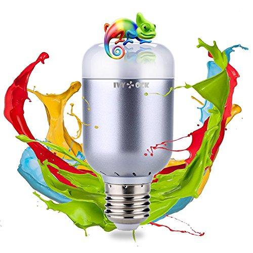 Smart LED Light Bulb - IVYOCK Color Changing Bulbs - Bluetooth Smartphone...