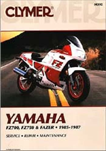 m392 clymer yamaha fz700 750 fazer 1985 1987 motorcycle repair