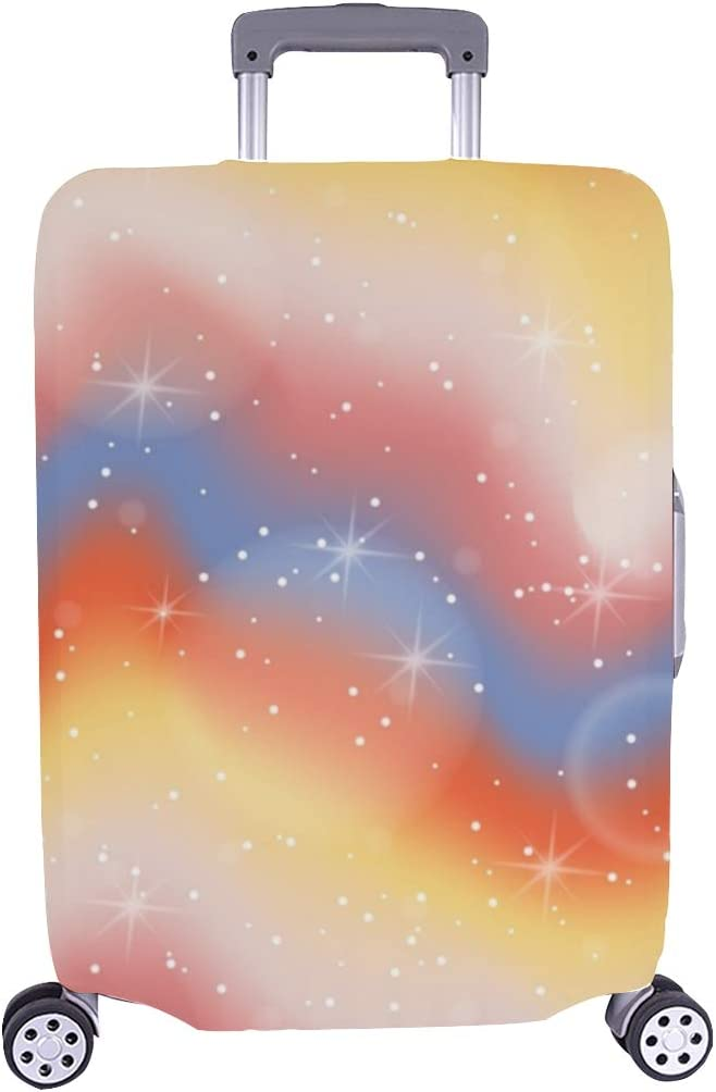 Pastel Color Abstract Spandex Trolley Case Travel Luggage Protector Suitcase Cover 28.5 X 20.5 Inch