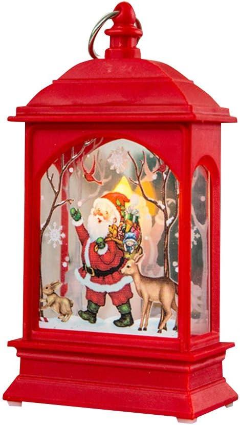 Amazon Com Muxilh Christmas Lights Snowman Santa Elk Candle Tea