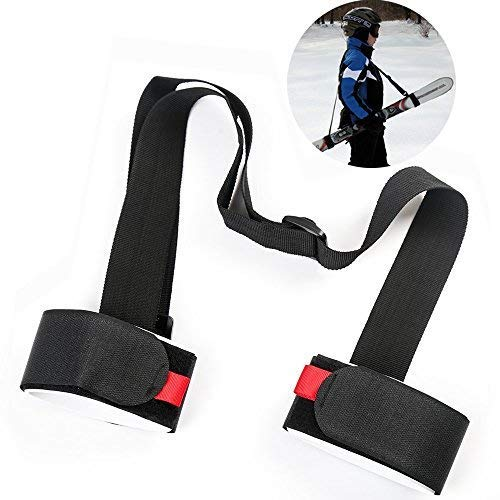 LAWOHO Shoulder Ski Carrier Straps Sling with Cushioned Holder - Adjustable - Ski Shoulder Lash Handle Straps