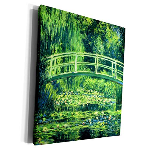 3dRose VintageChest - Masterpieces - Claude Monet - Bridge Over a Pond of Water Lilies - Museum Grade Canvas Wrap (cw_303316_1) (Bridge Over A Pond Of Water Lilies)