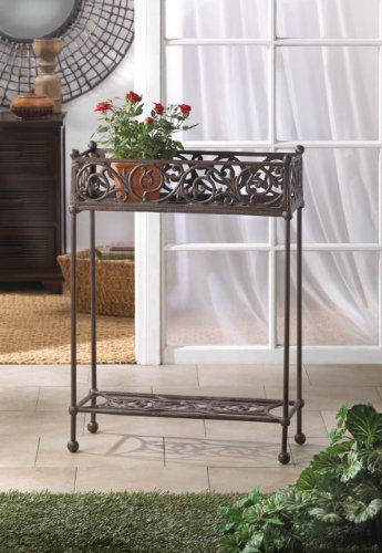Cheap  Garden Planters Cast Iron Rectangle Box Raised Bed Plant Stand Corner Home..