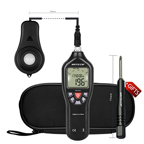 Asthma Source Book (NKTECH NK-W1S Lux Meter Digital Luxmeter FC Light Measure Range 0.1 to 200,000 LCD Backlight Illuminance Auto Tester USB Cable Power Supply)