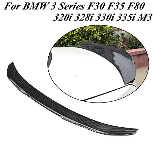 JC SPORTLINE F30 F80 CF Trunk Lip PSM Look, fits BMW 3 Series F30 F35 F80 320i 328i 330i 335i M3 Sedan 2012-2018 Carbon Fiber Rear Deck Boot Lid Spoiler Factory Outlet Wing