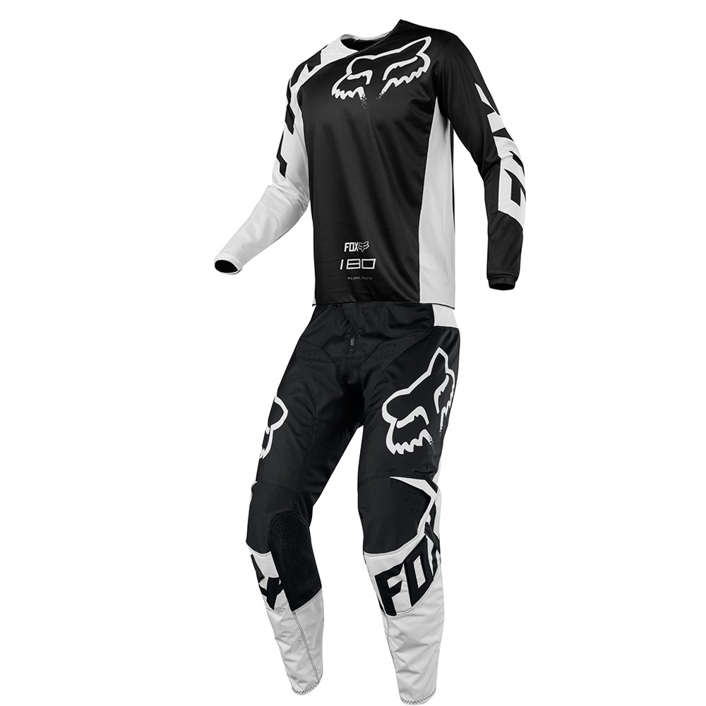 Fox Racing 180 Race Black Jersey/ Pant Youth Combo - Size Y-SMALL/ 22W
