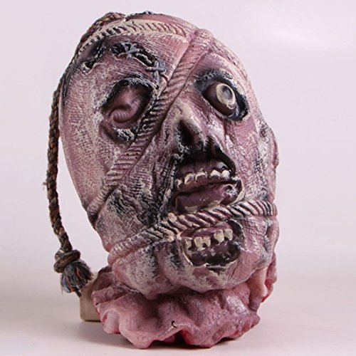 Head In A Jar Halloween Costume (Halloween Bloody Decorations Severed Head Cut off Corpse Head Prop Hanging Zombie Party Supplies)
