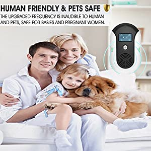 [2018 UPGRADED] Ultrasonic Electromagnetic Pest Repeller Sonic Rat Plug Bug In Wall Repellant High Frequency Rodent Deterrent, Repels Mouse Mice Rats Bats and Roaches, fleas, Mosquitoes, Spiders