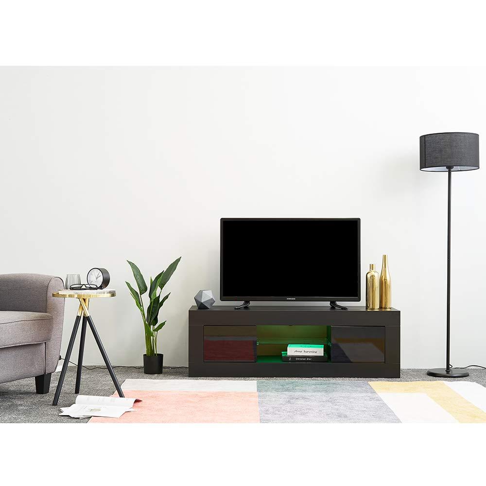 Ruication - Mueble de TV con Luces LED de Alto Brillo, Color ...