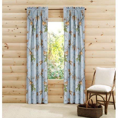 Realtree Camo Curtain Panels, Blue Camo Design, 2 Panels 40