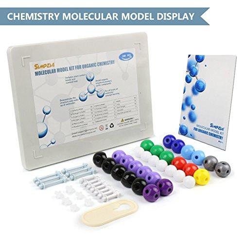 SIMPZIA 240 Pcs Organic Chemistry Model Kit  Molecular Model kit, Chemistry Organic and Inorganic Modeling Students Set with Manual & Atoms, Bonds for Students, Teachers & Scientists by SIMPZIA (Image #2)