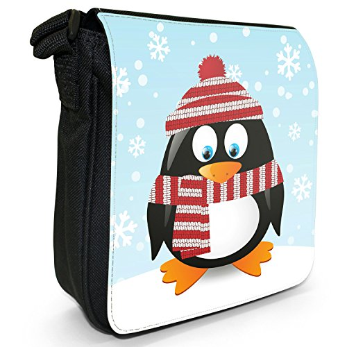 Holiday Shoulder Bag Hat Red Black Penguins White Wearing Canvas amp; Size Small Christmas Season Scarf dqFwRxZ1YY