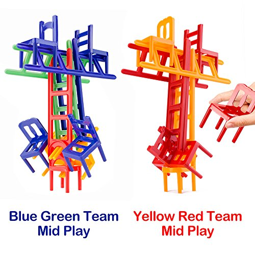 Chairs and Ladders Game. 44 Individual Pieces. Family Game Stack and Balance the Most. by WEofferwhatYOUwant